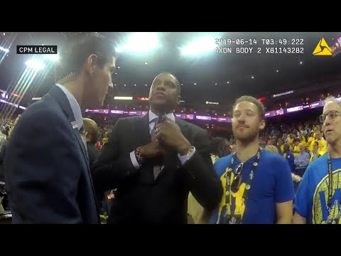 New video shows Masai Ujiri was shoved first in NBA Finals altercation