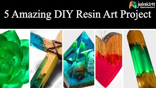 5 MOST Amazing DIY Ideas from Epoxy RESIN. SIMPLE Tutorial / Resin Art / Part 2