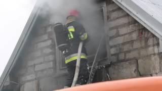 Pożar garażu w Lubatówce