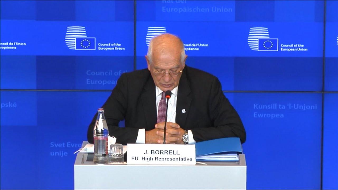 ΕΕ- Ζ. Μπορέλ: «Η συμπεριφορά της Τουρκίας οδηγεί σε αύξηση των εντάσεων και όχι σε αποκλιμάκωση»