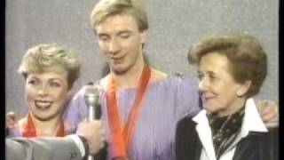 Torvill and Dean 84 Olympics medal ceremony