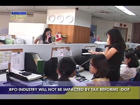 BPO Industry Will Not Be Impacted by Tax Reforms DOF