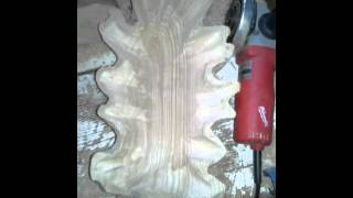 Carving With Milwaukee Angle Grinder & Keindl Wood Carving Gold