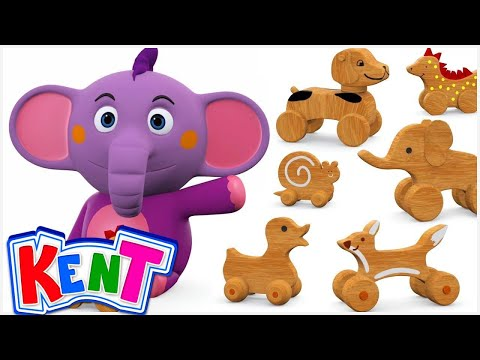 Baby Kent loves to play with Wooden Toys | Learn Colors with Wooden Toys Coloring for Kids