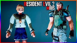 Resident Evil 2 Mods Sherry Birkin and Chris Redfield as Mr X
