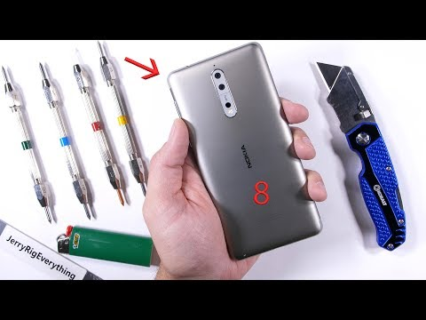 Incredibili risultati per Nokia 8 durante lo scratch test di JerryRigEverything