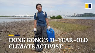 Hong Kong's 11-year-old climate activist on a mission to urge adults help save future generations