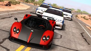POLICE CHASES #14 - Crashes & Fails/Busted Compilation - BeamNG Drive