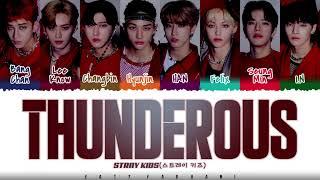 STRAY KIDS - 'THUNDEROUS' (소리꾼) Lyrics [Color Coded_Han_Rom_Eng]