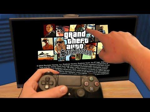 Мой Первый Запуск GTA San Andreas на Playstation 4 *КАК ОНА ВЫГЛЯДИТ*