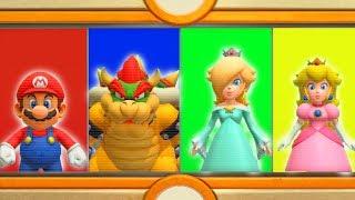 Super Mario Party - Minigames - Mario vs Bowser vs Rosalina vs Peach