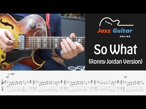 So What (Ronny Jordan Version) - Jazz Guitar Lesson