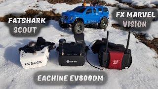 Тест FPV шлема Eachine EV800DM ... Сравнение с FatShark Scout и MARVEL Vision II