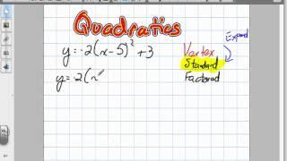 Quadratics, Vertex To Standard Form (Grade 10 Applied Review 6:19:12).mov