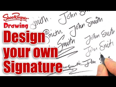 How to design your own amazing signature Shoo Rayner \u2013 Author