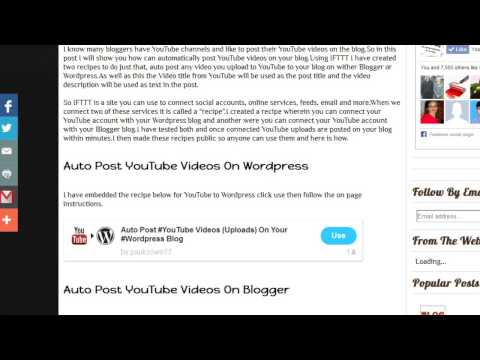 Automatically Post YouTube Videos On Wordpress And Blogger - Thủ