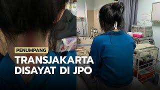 Penumpang Transjakarta Diserang Wanita di JPO hingga Leher Tersayat