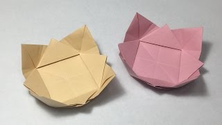 How To Make A Paper Bowl / Origami Dish