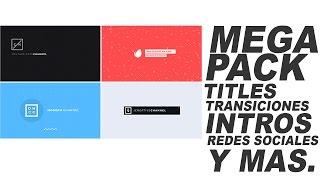 PACK DE TITLES AFTER EFFECTS | SUPER PACK DE TITLES, TRANSICIONES,INTROS Y MAS