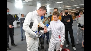 Михаил Дегтярев посетил отделение краевой школы олимпийского резерва