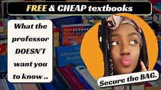 College Textbook HACKS - How I Got FREE & Super CHEAP Textbooks Saving HUNDREDS | ESP Daniella