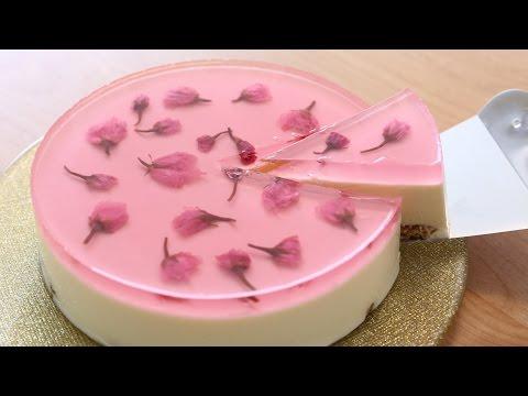 Video Sakura(Cherry Blossoms) Nobake Cheesecake