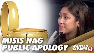 Nangaliwang misis, nag-public apology