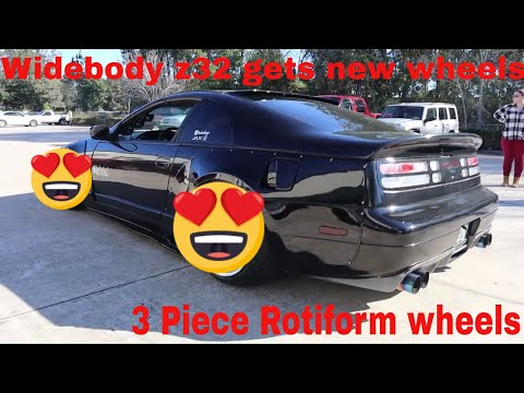 Widebody 300zx gets new wheels [Rotiform KPS 3 Piece wheels]