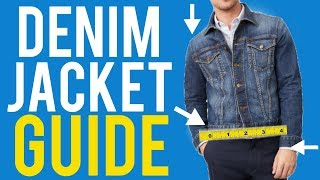 Denim Jacket Fit Guide For Men - The Correct Way To Wear It