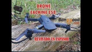 EACHINE E58 EN ESPAÑOL, (X PRO) DRONE PLEGABLE. UNBOXING Y REVISADO A FONDO. Mini CLONE DJI MAVIC