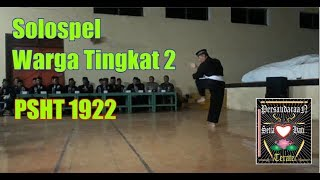 Solospel Mas Sony Dari Warga Tingkat 2 PSHT 1922 Indonesia Pusat Madiun