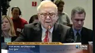 Financial Crisis Inquiry Commissioner Peter Wallison Questions Warren Buffet.