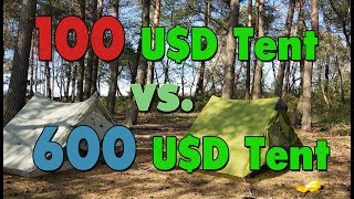 $100 Tent Vs. $600 Tent: 2-Person Cheap Tent Vs. Best Ultralight Tent (LanShan 2 Vs. Zpacks Duplex)