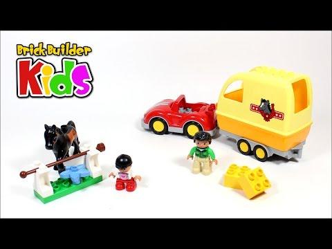 Vidéo LEGO Duplo 10807 : La remorque à chevaux