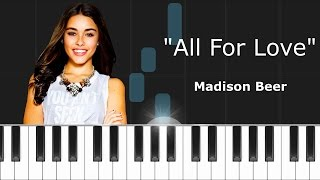 Madison Beer - ''All For Love'' Ft Jack Jack Piano Tutorial - Chords - How To Play - Cover