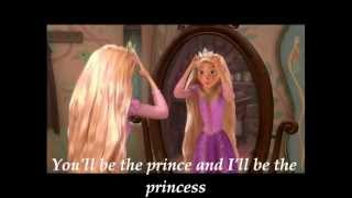 Taylor Swift ~ Love Story (Lyrics On Screen * Rapunzel)
