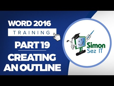 Word 2016 for Beginners Part 19: Creating an Outline in Microsoft Word 2016