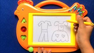 Đồ chơi trẻ em bảng viết xóa cho bé học tập hình con gà, Bé học động vật online (Chị Chim Xinh)