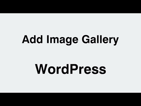 Download How To Create An Image Gallery In Wordpress Video 3GP Mp4