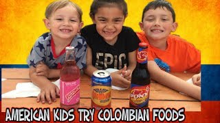 American Kids Try Colombian Foods