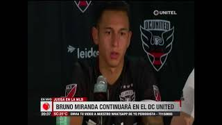 Bruno Miranda cuenta su experiencia en el DC United