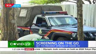 Police assist medics on random screening on motorists in Kabarak