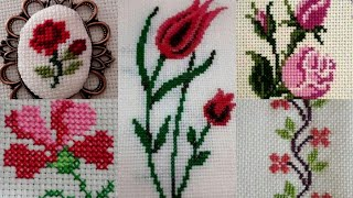 Cross Stitch  Hand Embroidery Patterns For Bedsheets/ Table Mates /cushion