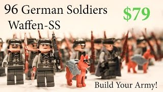 Lego WW2 German Army SS Soldiers Military Lego Toy Guns & Brickarms Review