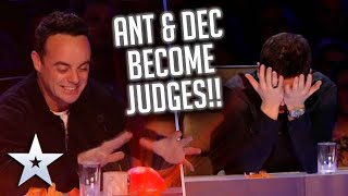 Ant and Dec TAKE OVER from Simon Cowell as JUDGE! | Britain's Got Talent