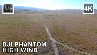 DJI Phantom 4 high wind landing, Antelope Valley