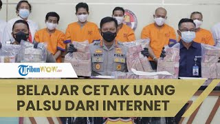 Polisi Tangkap Pembuat Uang Palsu hingga Rp3,7 Miliar, Pelaku Ternyata Belajar dari Internet