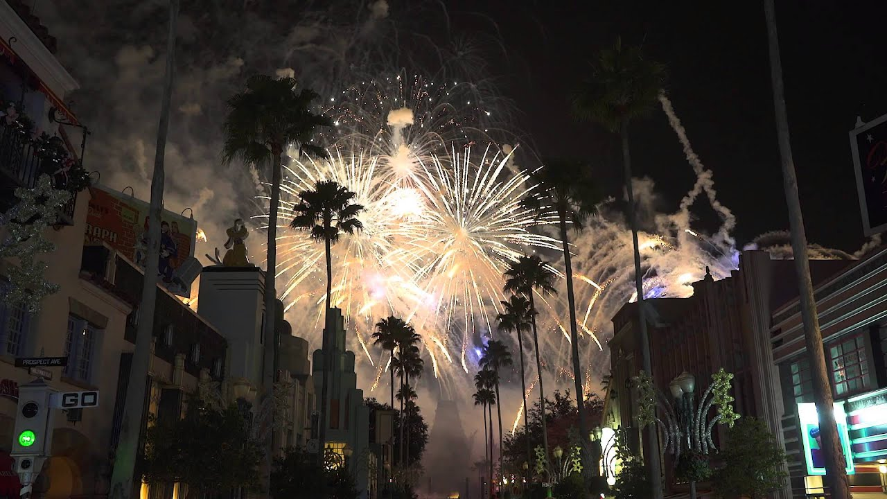 Disney's Hollywood Studios New Year's Eve fireworks 2015