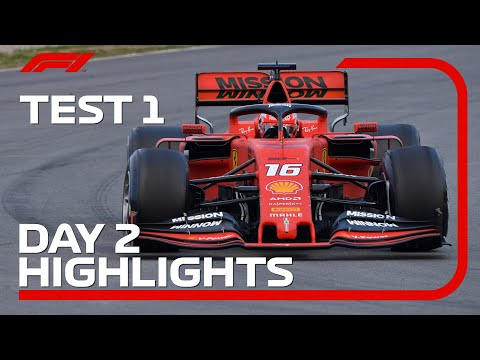 Leclerc Fastest On Day 2 | F1 Testing Highlights 2019