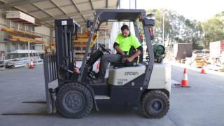 How to operate a forklift